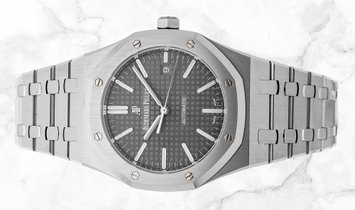 Audemars Piguet 15400ST.OO.1220ST.04 Royal Oak Stainless Steel Grey Ruthenium Toned Dial