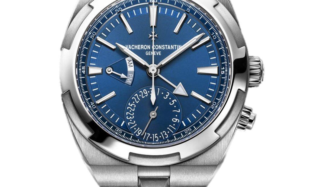 VACHERON CONSTANTIN OVERSEAS BLUE DIAL AUTOMATIC DUAL TIME MEN'S WATCH REF. 7900V/110A-B334