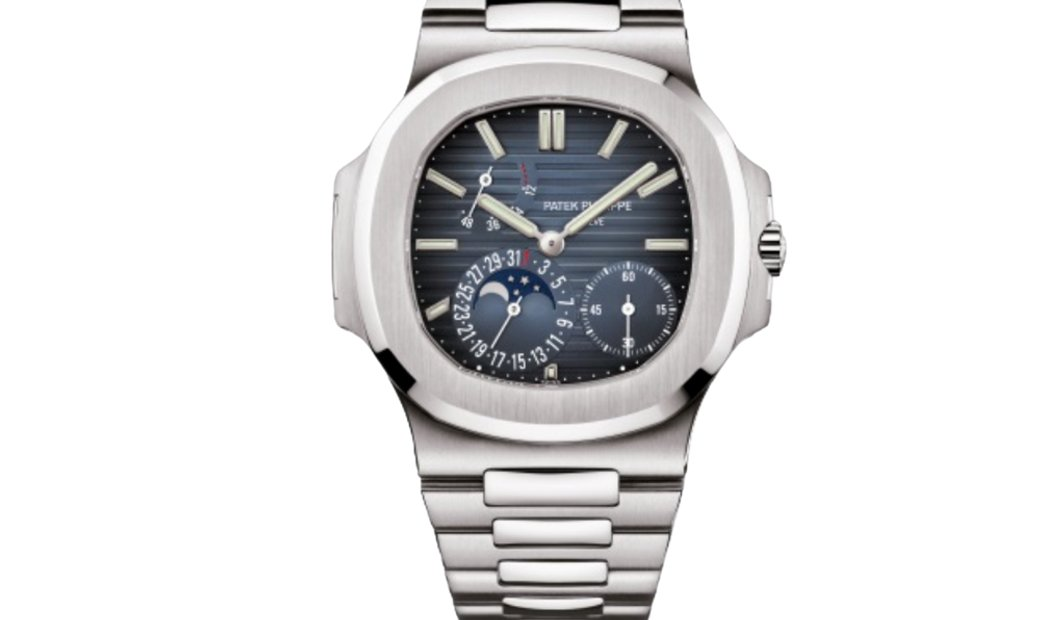 Patek Philippe Nautilus Stainless Steel Moonphase Blue Dial 5712/1A