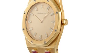 Audemars Piguet Audemars Piguet Royal Oak Ruby Baguette Yellow Gold Watch