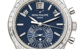 PATEK PHILIPPE COMPLICATIONS ANNUAL CALENDAR CHRONOGRAPH PLATINUM MEN'S WATCH Ref. 5961P-001