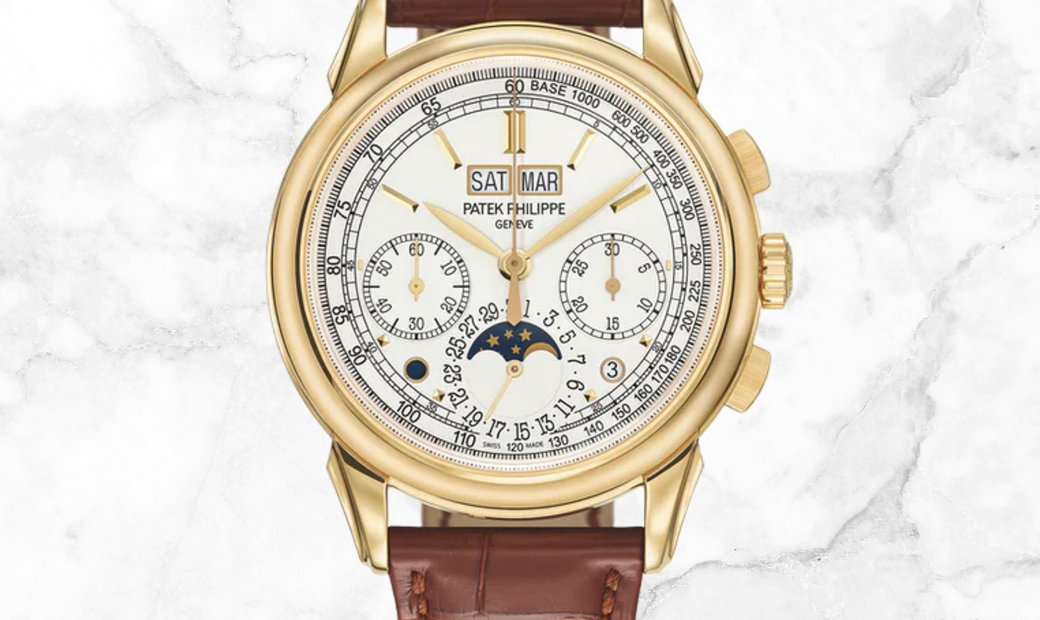 Patek Philippe Grand Complications 5270J-001 Chronograph Perpetual Calendar Yellow Gold Silvery Dial