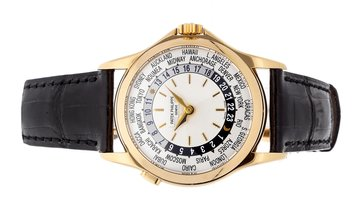 PATEK PHILIPPE COMPLICATIONS WORLD TIME 5110J-001 YELLOW GOLD
