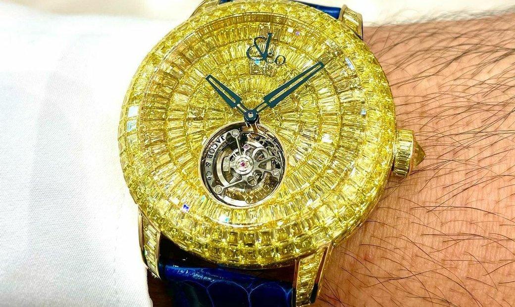 Jacob & Co. 捷克豹 NEW & UNIQUE Caviar Tourbillon Yellow Diamond CV201.50.YD.UA.A