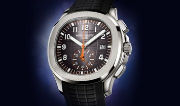 PATEK PHILIPPE AQUANAUT CHRONOGRAPH STAINLESS STEEL MEN'S WATCH Ref. 5968A-001