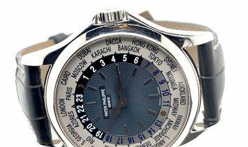 PATEK PHILIPPE WORLD TIME 5110P-001 PLATINUM MEN'S WATCH