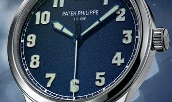 PATEK PHILIPPE CALATRAVA PILOT'S NEW YORK LIMITED EDITION STAINLESS STEEL MEN'S WATCH 5522A-001