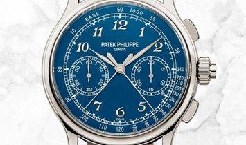 Patek Philippe Grand Complications 5370P-011 Split-Seconds Chronograph Platinum Blue Enamel Dial