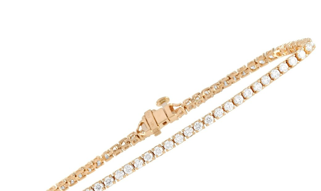 LB Exclusive LB Exclusive 14K Yellow Gold 5.00 ct Diamond Tennis Bracelet
