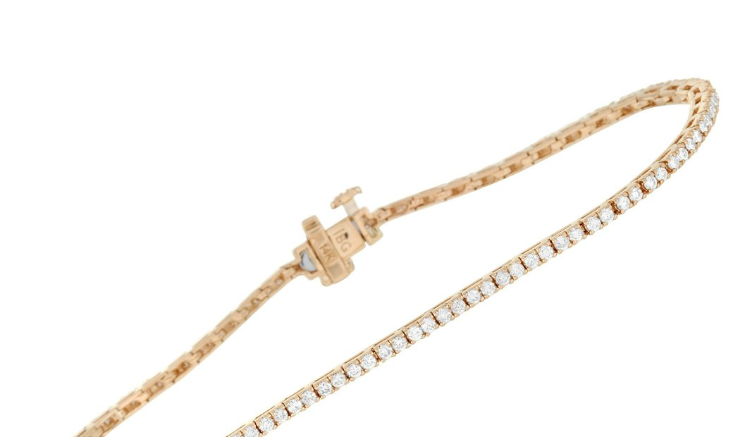 LB Exclusive LB Exclusive 14K Yellow Gold 1.37 ct Diamond Tennis Bracelet