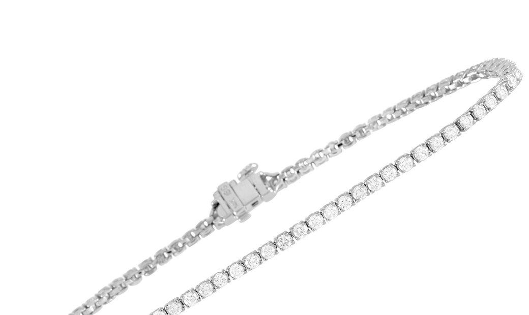 LB Exclusive LB Exclusive 14K White Gold 2.70 ct Diamond Tennis Bracelet