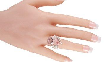 Mikimoto Mikimoto Platinum 2.63 ct Diamond and Morganite Ring