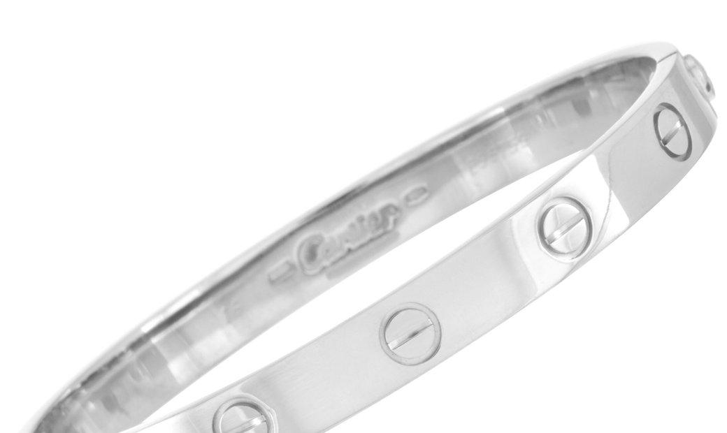 Cartier Cartier LOVE 18K White Gold Bracelet with Screwdriver Size 16