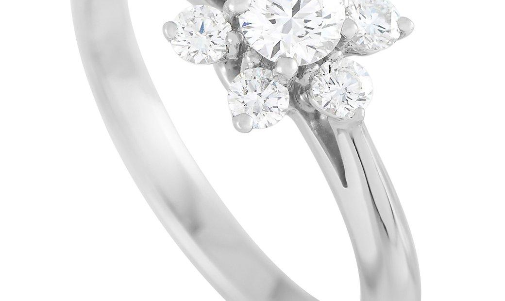 Tiffany & Co. Tiffany & Co. Platinum 0.50 ct Diamond Cluster Ring