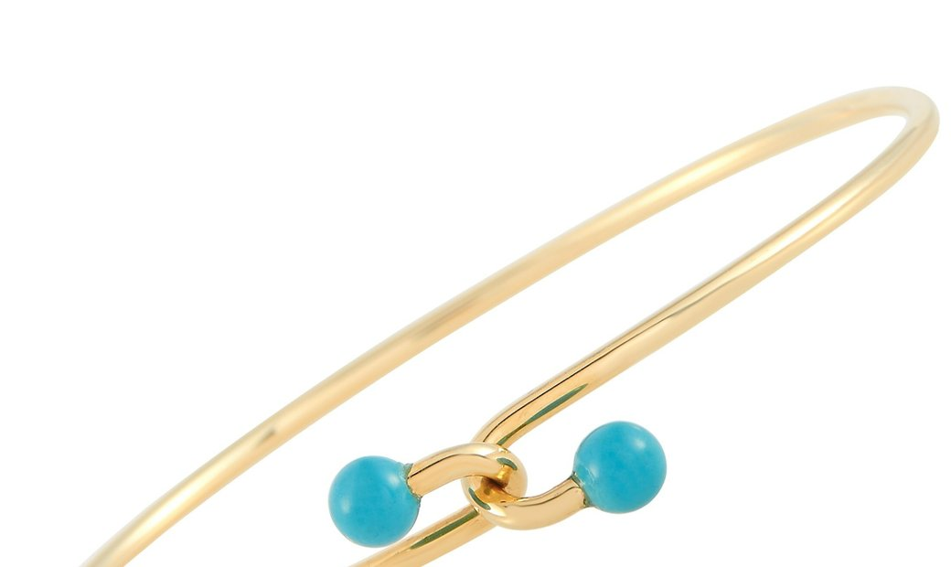 Tiffany & Co. Tiffany & Co. 18K Yellow Gold Turquoise Bracelet
