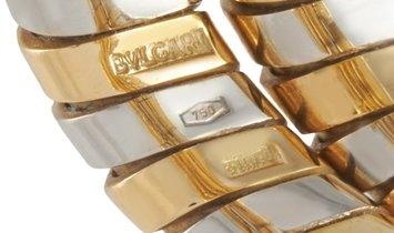 Bvlgari Bvlgari 18K Yellow and White Gold Spiral Tubogas Ring