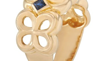 Dior Dior 18K Yellow Gold 0.50 ct Diamond and Sapphire Ring
