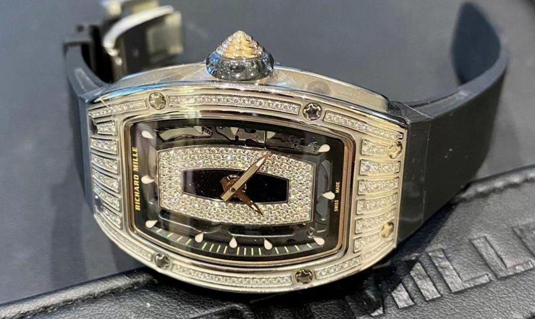 Richard Mille [NEW] RM 07-01 White Gold Medium Set Diamonds