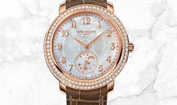 Patek Philippe Complications 4968R-001 Diamond Ribbon Joaillerie, Moon Phases Rose Gold Diamonds
