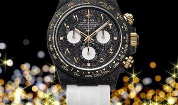 "Rolex DiW [LIMITED 1 PIECE] NTPT Carbon Daytona ""BLACK & WHITE"" (Retail:US$54,990)"