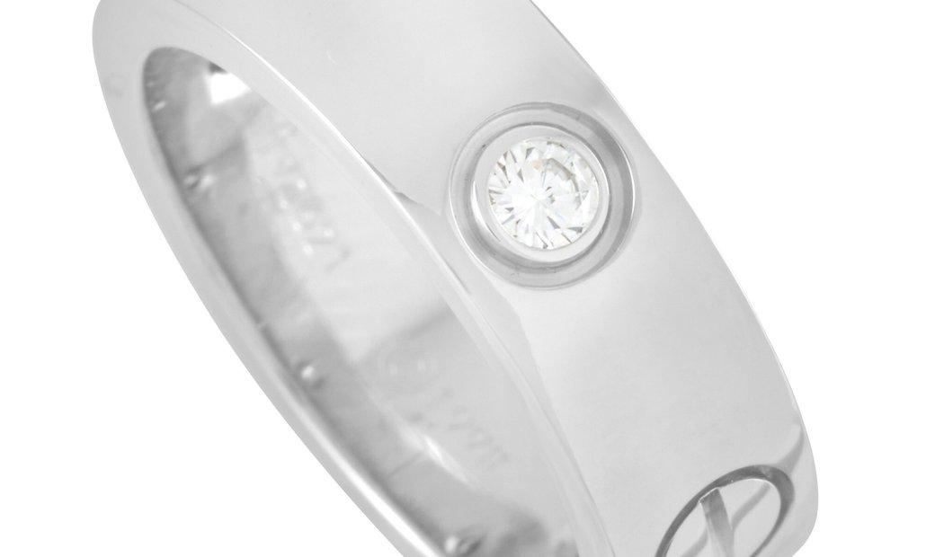 Cartier Cartier LOVE 18K White Gold 3 Diamond Ring