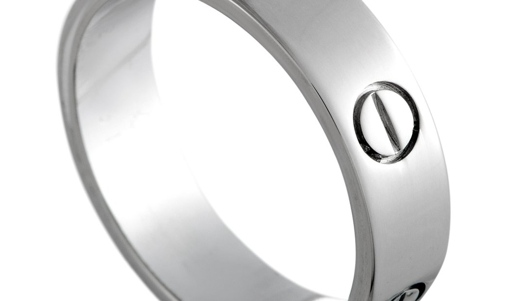 Cartier Cartier LOVE 18K White Gold Band Ring
