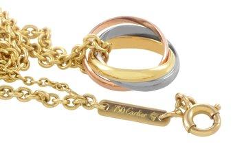 Cartier Cartier Trinity 18K Tri-Gold Pendant Necklace