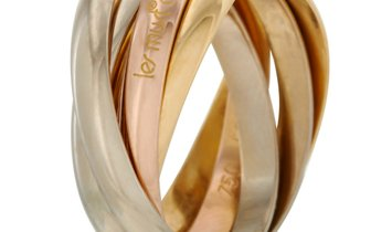 Cartier Cartier Trinity 18K Yellow, White and Rose Gold 5 Band Ring