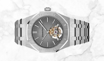 Audemars Piguet 26510PT.OO.1220PT.01 Royal Oak Turbillon Extra-Thin Platinum Smoked Grey Dial