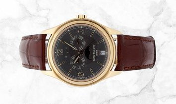 Patek Philippe Complications 5146J-010 Annual Calendar Moonphases Yellow Gold Slate Grey Dial