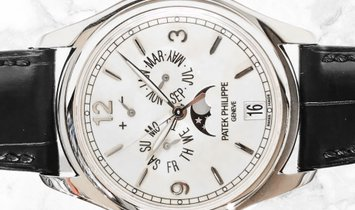 Patek Philippe Complications 5146G-001 Annual Calendar Moonphases White Gold Cream Dial