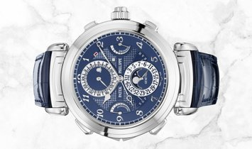 Patek Philippe Grand Complications 6300G-010 Grandmaster Chime White Gold Blue Dial