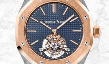 Audemars Piguet 26517SR.OO.1220SR.01 Royal Oak Tourbillon Extra-Thin Stainless Steel Blue Dial