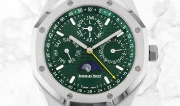 Audemars Piguet 26606ST.OO.1220ST.01 Royal Oak Perpetual Calendar Limited Edition SS Green Dial