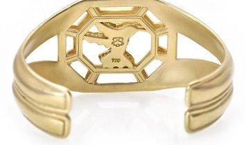 Slane & Slane Slane & Slane 18K Yellow Gold 0.75 ct Diamond Hummingbird Cuff
