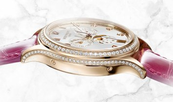 Patek Philippe Complications 4947R-001 Annual Calendar Moon Phases Rose Gold Silver Coloured Dial