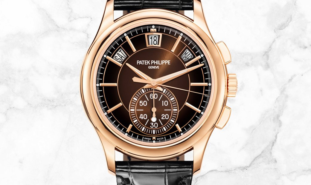 Patek Philippe Complications 5905R-001 Flyback Chronograph Rose Gold Brown Dial