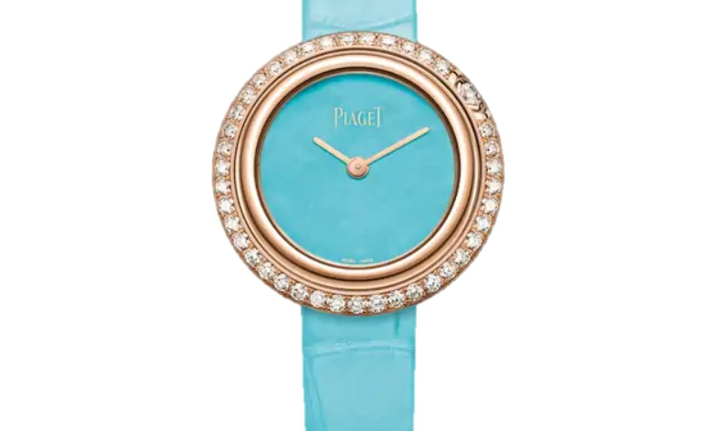 PIAGET POSSESSION QUARTZ RG TURQUOISE DIAL G0A43089
