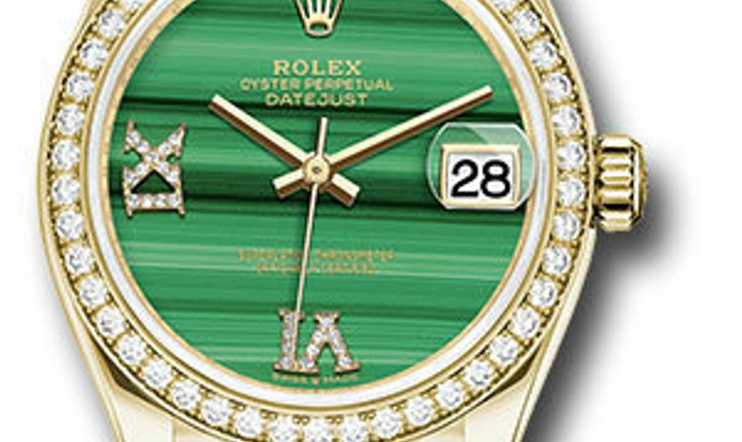 ROLEX OYSTER PERPETUAL DATEJUST MALACHITE DIAL Ref 278288RBR