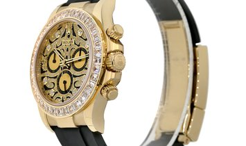 Rolex Cosmograph Daytona Eye of The Tiger Pave Diamond Dial Watch 116588TBR