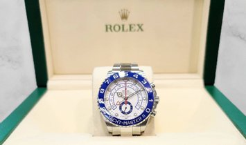 Rolex Yacht Master II 116680-0002 Oystersteel  Blue Ceramic Bezel with White Dial