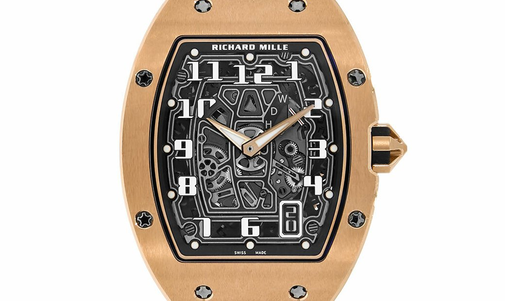 Richard Mille RM67-01 Rose Gold Skeleton Dial Watch RM67-01