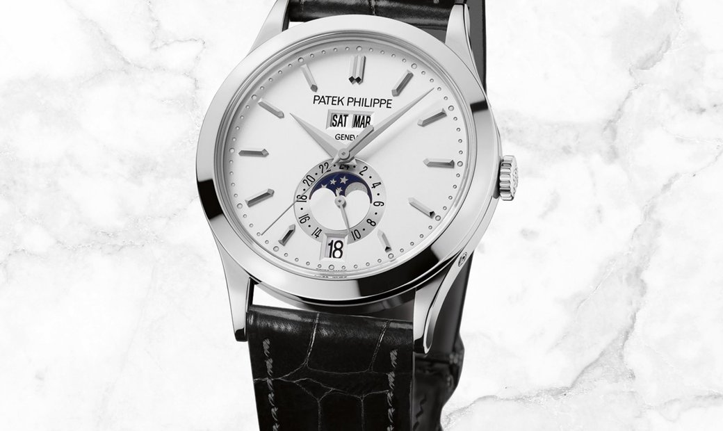 Patek Philippe Complications 5396G-011 Annual Calendar Moon Phases White Gold