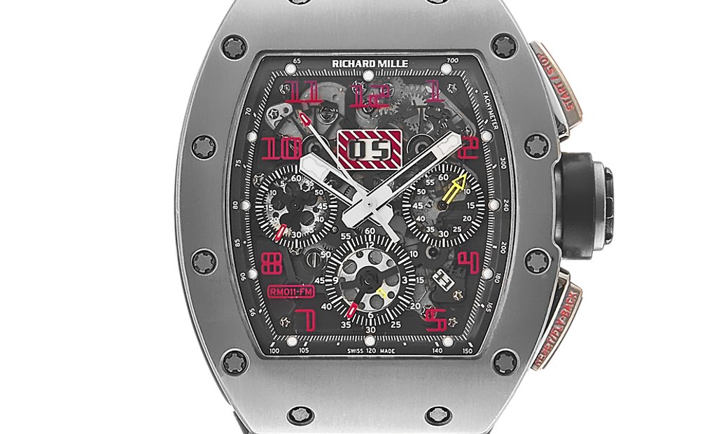 Richard Mille RM011 Felipe Massa Titanium Sandblast Chronograph Watch RM011