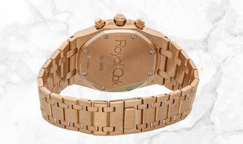 Audemars Piguet 25960OR.OO.1185OR.02 Royal Oak Chronograph 18K Rose Gold Silvered Dial