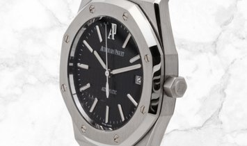 Audemars Piguet 15300ST.OO.1220ST.03 Royal Oak Self Winding Stainless Steel Black Coloured Dial