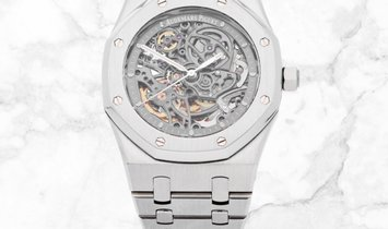 Audemars Piguet 15305ST.OO.1220ST.01 Royal Oak Openworked Self Winding SS Slate Grey Dial