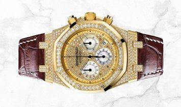 Audemars Piguet 26068BA.ZZ.D088CR.01 Royal Oak Chronograph 18K Yellow Gold  Diamond-paved Dial