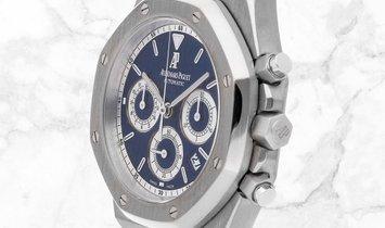 Audemars Piguet 26022BC.OO.D028CR.01 Royal Oak Chronograph 18K White Gold Blue Coloured Dial