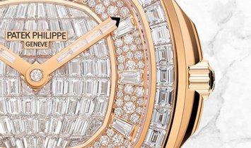 Patek Philippe Aquanaut 5062/450R-001 Luce Haute Joaillerie Rose Gold Diamond Set